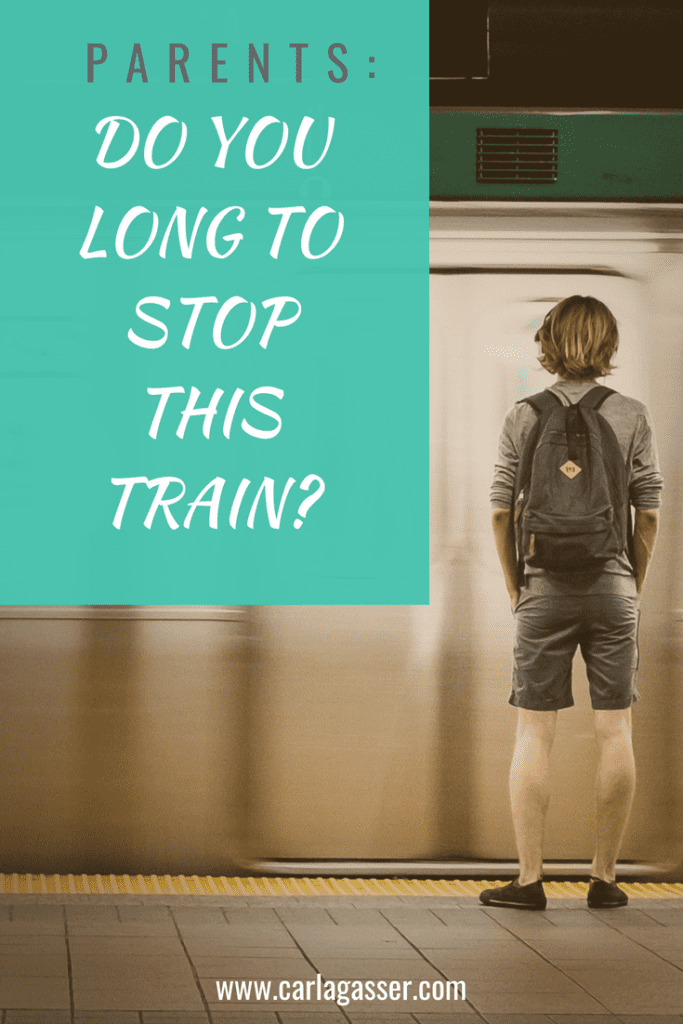 Parents, do you long to stop this train?