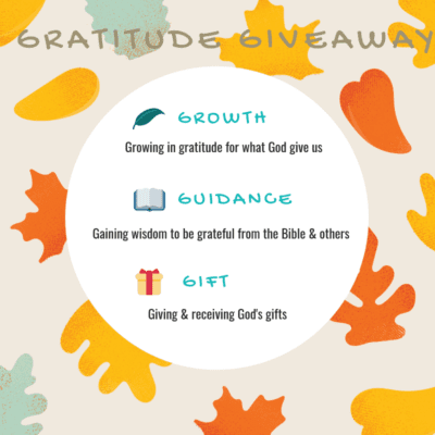GRATITUDE GIVEAWAY: GRATEFUL FOR GOD'S GRACE