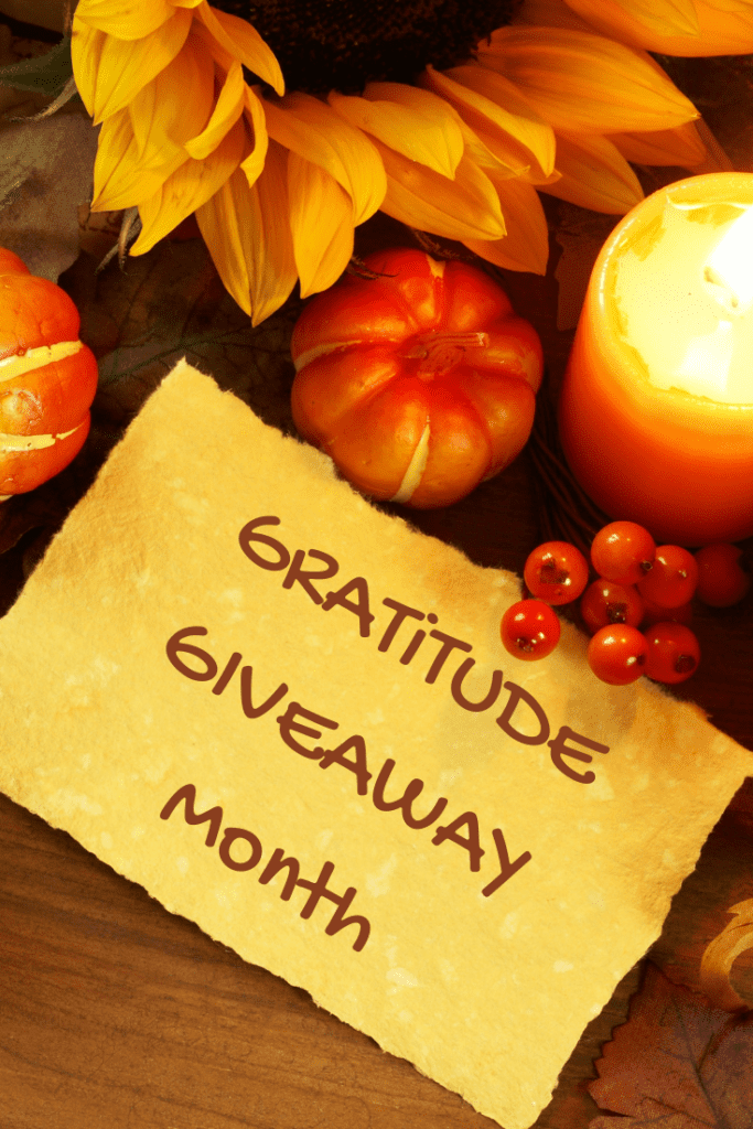 Gratitude Giveaway Month